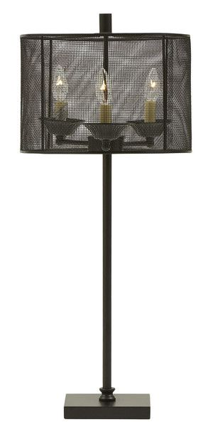 Mesh Drum Shade Table Lamp | Drum shade, Chandelier table lamp and ...