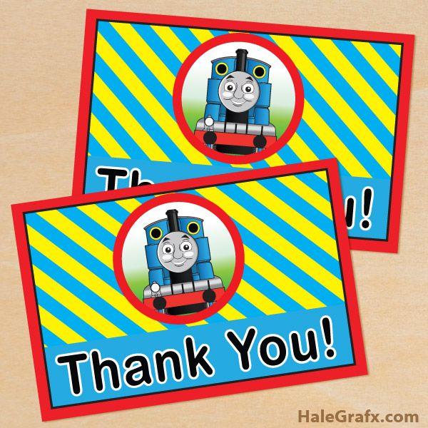 Free Printable Thomas The Tank Engine Thank You Card Thomas The Train Party Thomas The Train Birthday Party Trains Birthday Party