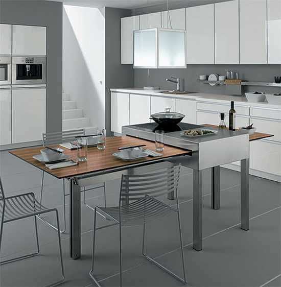 Modern Tables For Small Kitchens Show Adjustable Multifunctional Space Saving Furniture Design Modern Kitchen Tables Small Kitchen Tables Kitchen Interior