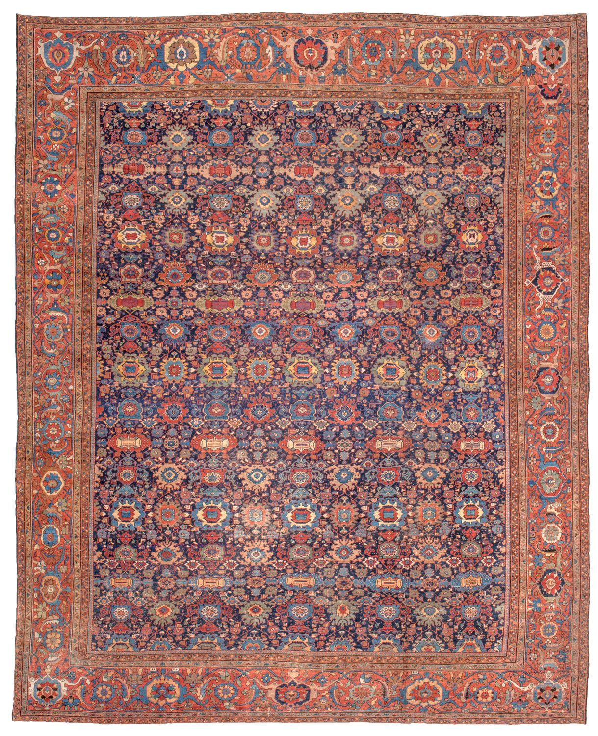 Sultanabad Antique Rug -- Style For Upstairs Foyer Hallway