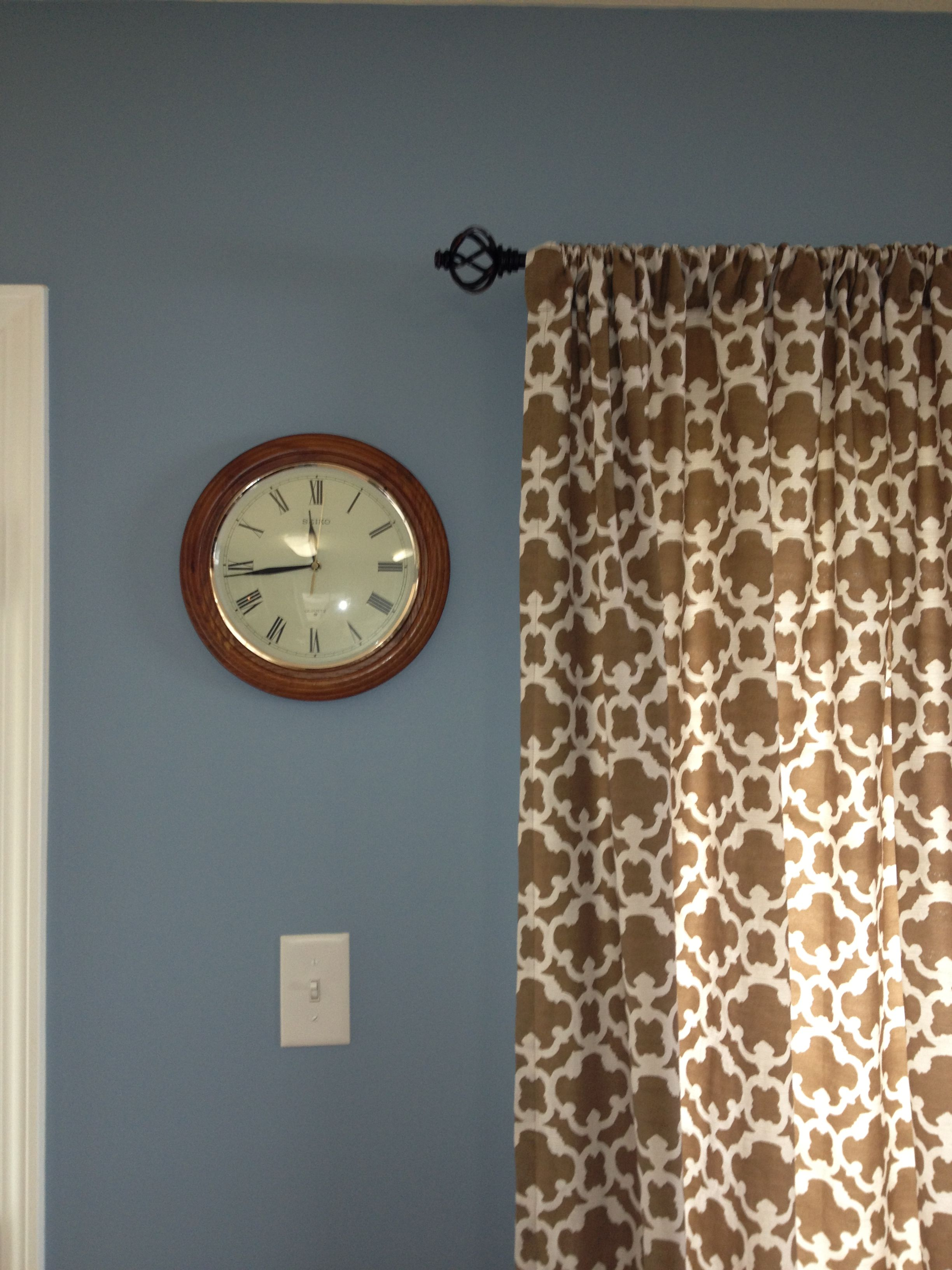 Target kitchen sink accessories - Kitchen Is Painted Newport Blue By Behr And Curtains From Target Love It
