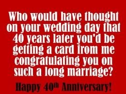 40th anniversary wishes quotes and poems for cards anniversary