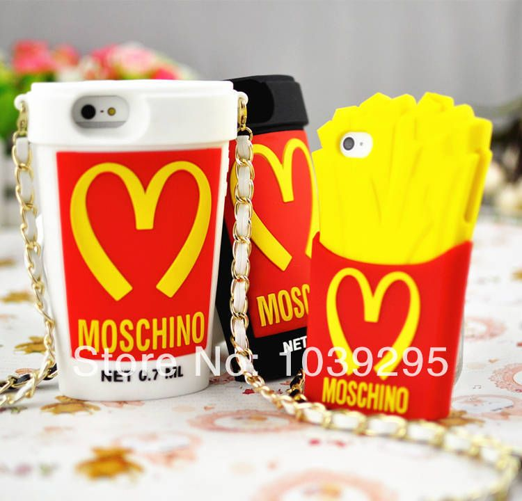 2014 new moschino mcdonalds coffee cup silicone cover
