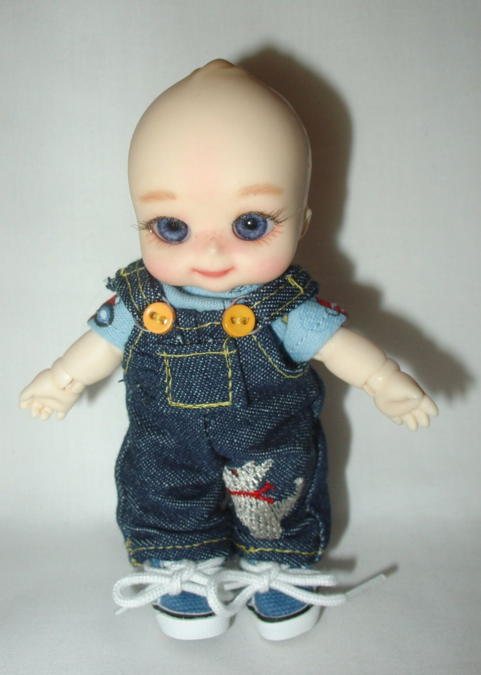 Nappy Choo overalls outfit for sale $28  http://www.dudsfordolls.com/NappyChoo/Nappy.htm