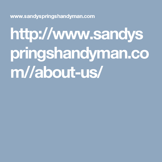 Http Www Sandyspringshandyman Com About Us This Is Us Godaddy Save