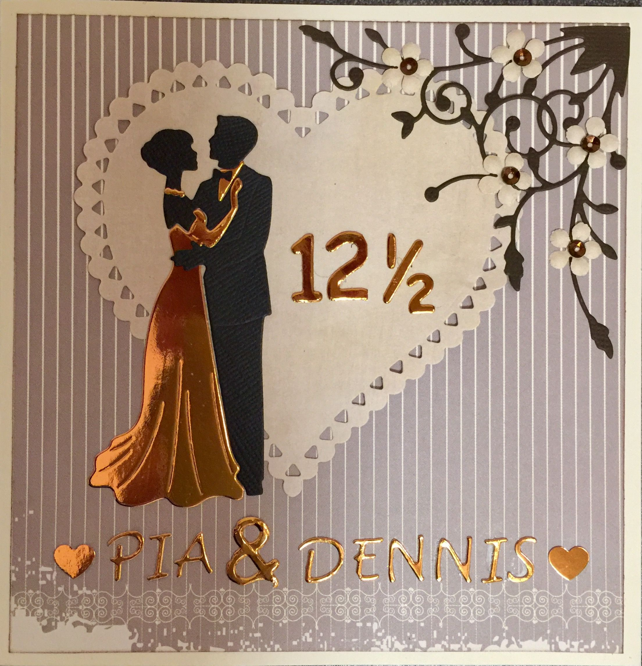 Kobberbryllup Kort Med Billeder Bryllupskort Bryllup Kort Guld Bryllup