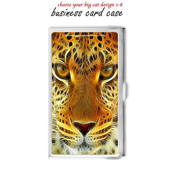 Big cat business card holder choose big cat design 1 8 tigers big cat business card holder choose big cat design 1 8 tigers gift idea office supplies credit card holder choose your big cat colourmoves