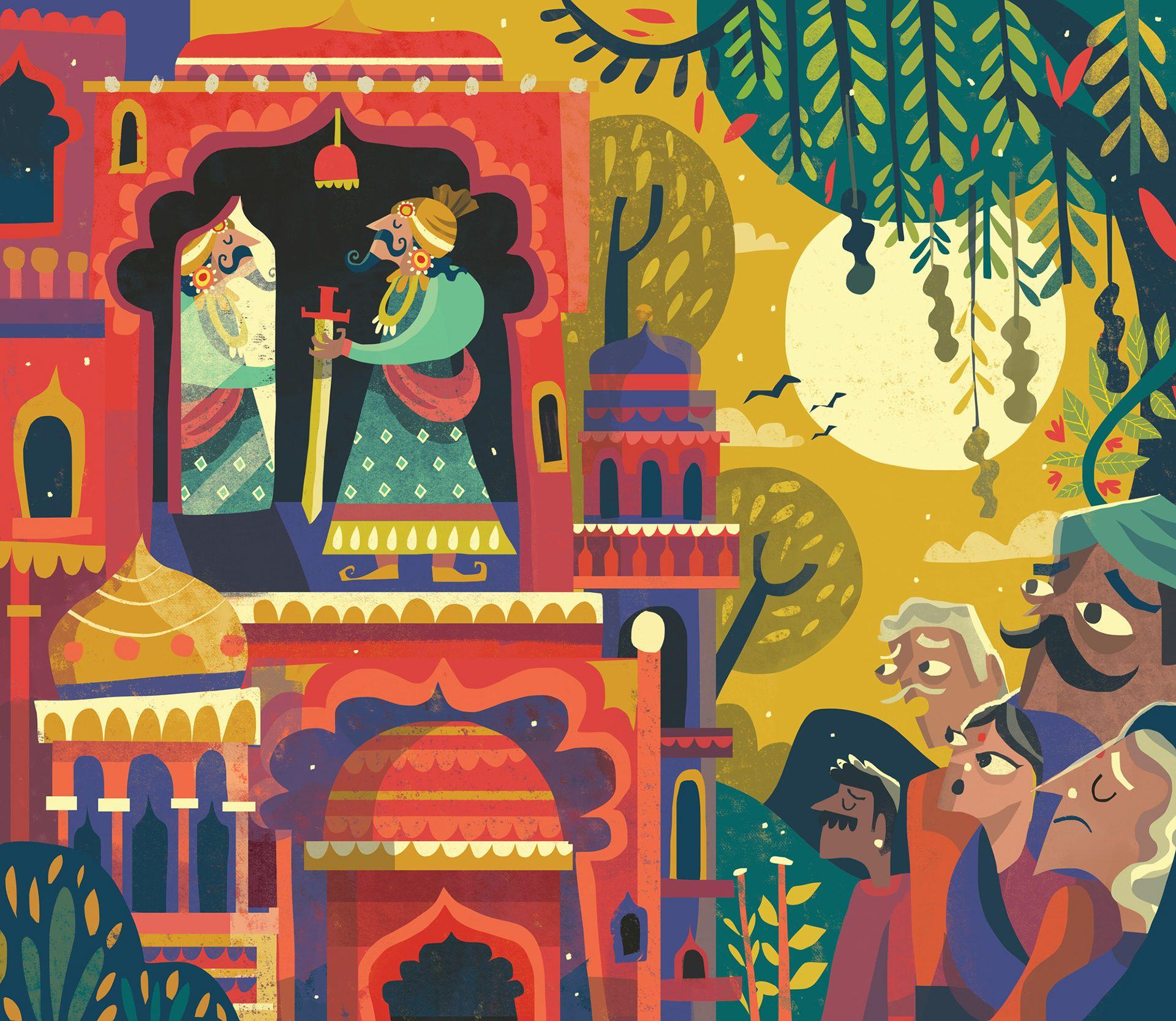 Colorful Illustrations By Chennai Based Illustrator Chaaya Prabhat Illustration Art Kids Folk Illustration Illustration