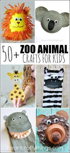 50+ Zoo Animal Crafts for Kids