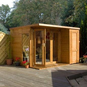 Summer Houses Free Delivery From Devon Garden Sheds Summer House Design Contemporary Garden Rooms Contemporary Garden