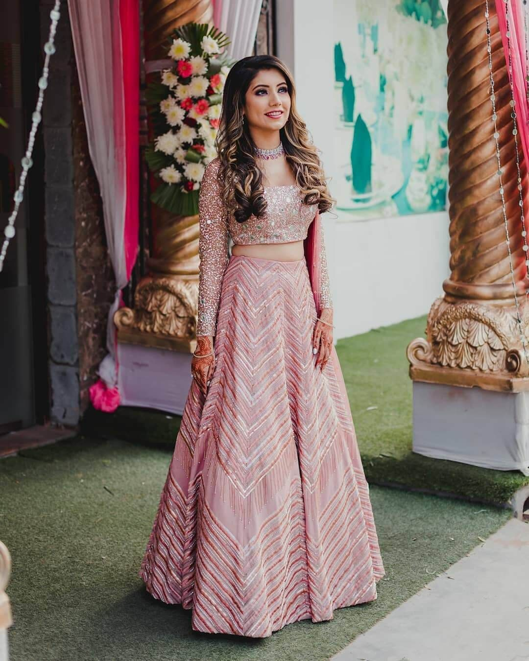 Trending Shades Of Metallic Lehengas For Brides To Be In 2020 Wedding Dresses For Girls Indian Fashion Dresses Indian Gowns Dresses