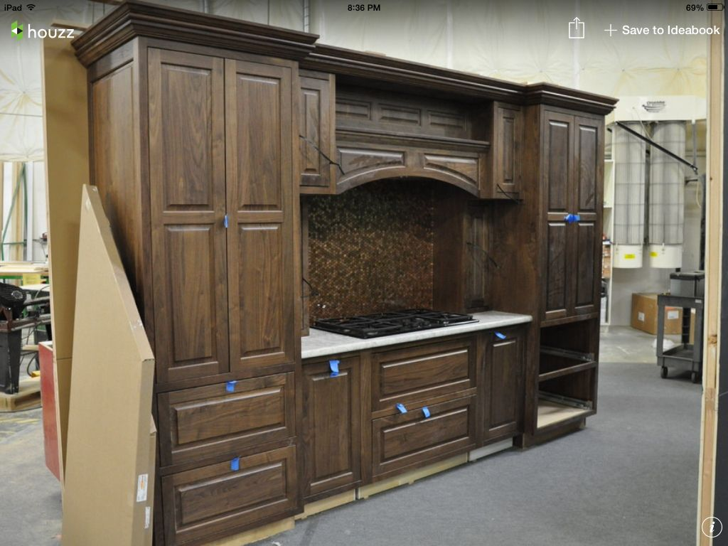 Dark stain   Stained kitchen cabinets, Alder cabinets ...