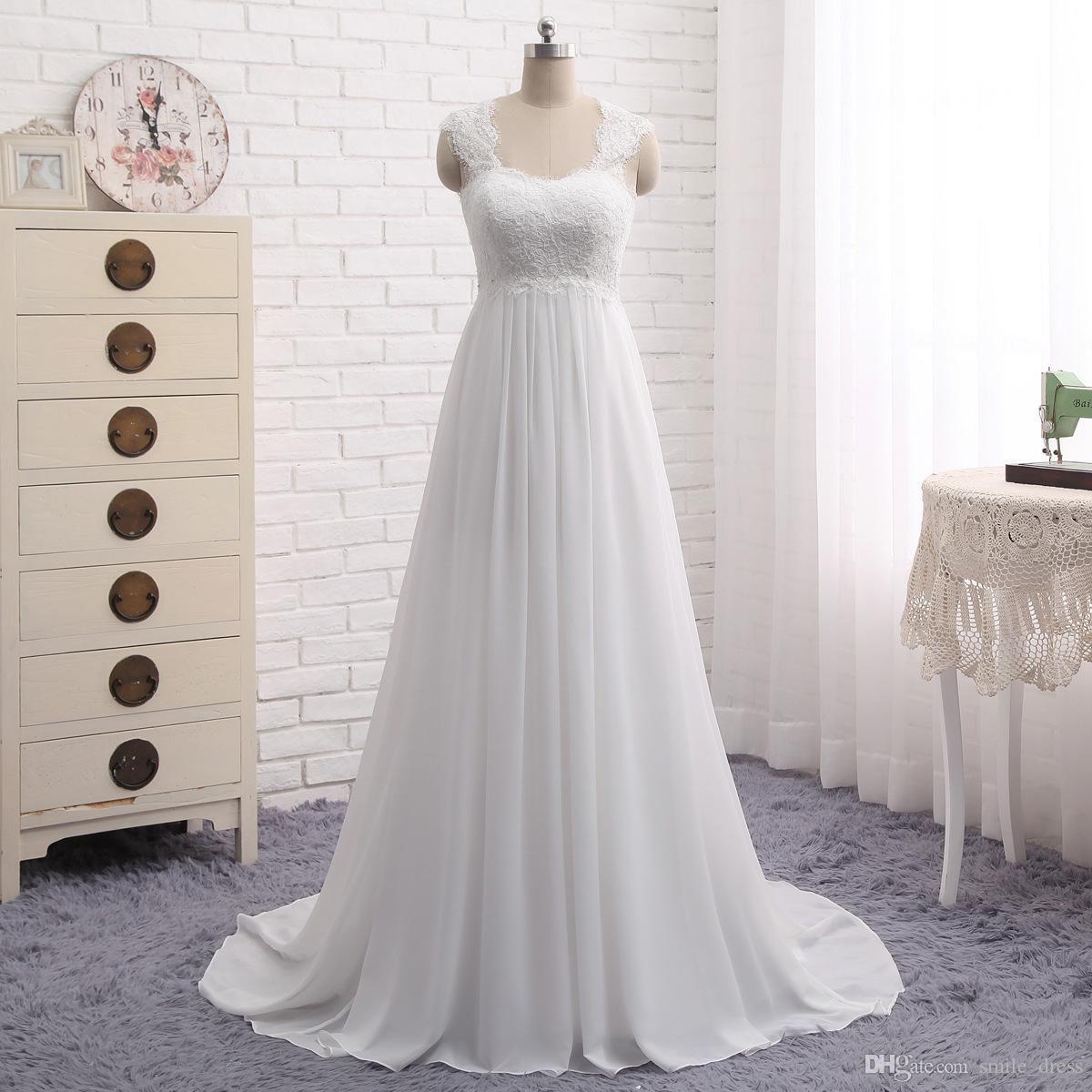 Discount cheap summer beach maternity wedding dresses a line