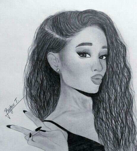 Nice ariana grande drawing this is so beautiful