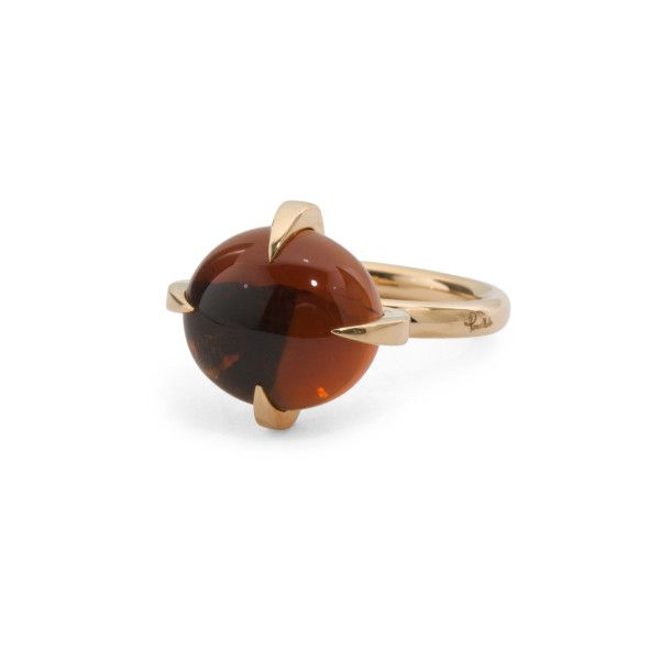 Made In Italy 18k Rose Gold Madera Quartz Ring 1300 liked on