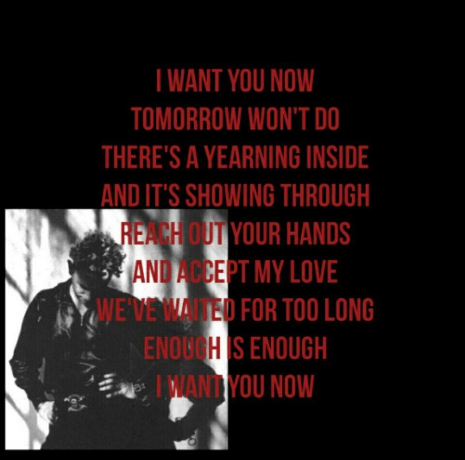 Tomorrow Won T Do Depeche Mode Iwantyounow Depechemode Musicforthemasses I Want You Now Depeche Mode Lyrics
