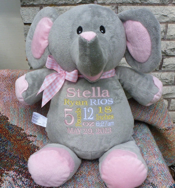 Monogrammed baby gift personalized baby gift embroidered elephant laurengreska monogrammed baby gift personalized baby by worldclassembroidery 3999 negle Images