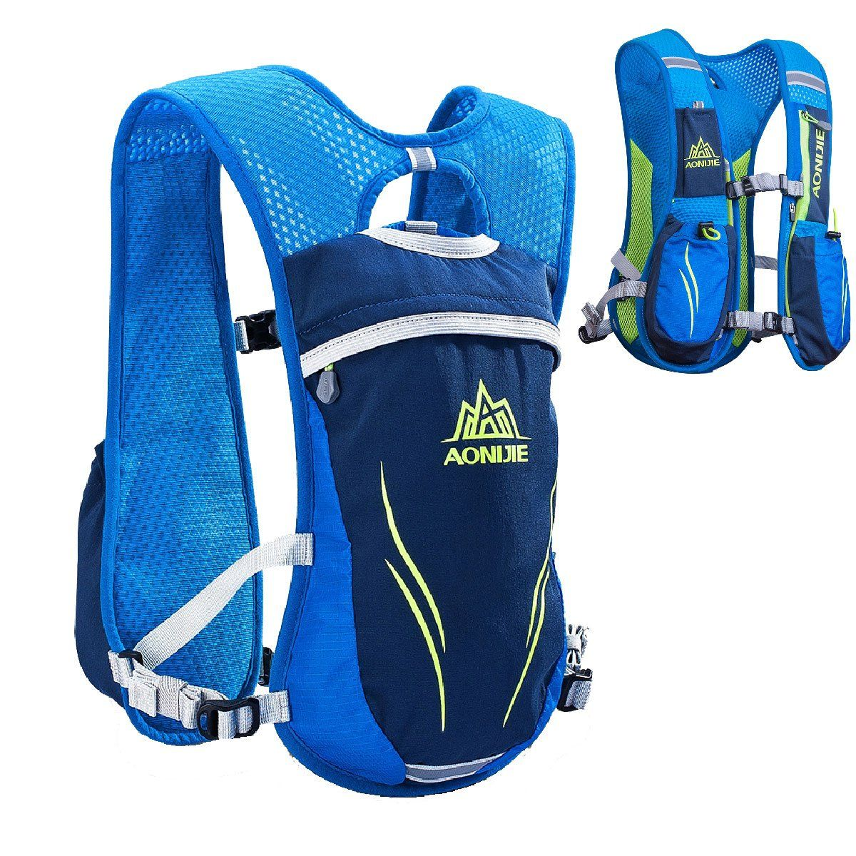 c8135cc3fd JEELAD Running Hydration Pack Backpack Hydration Vest for Marathon Running  Race Cycling (Blue (5.5