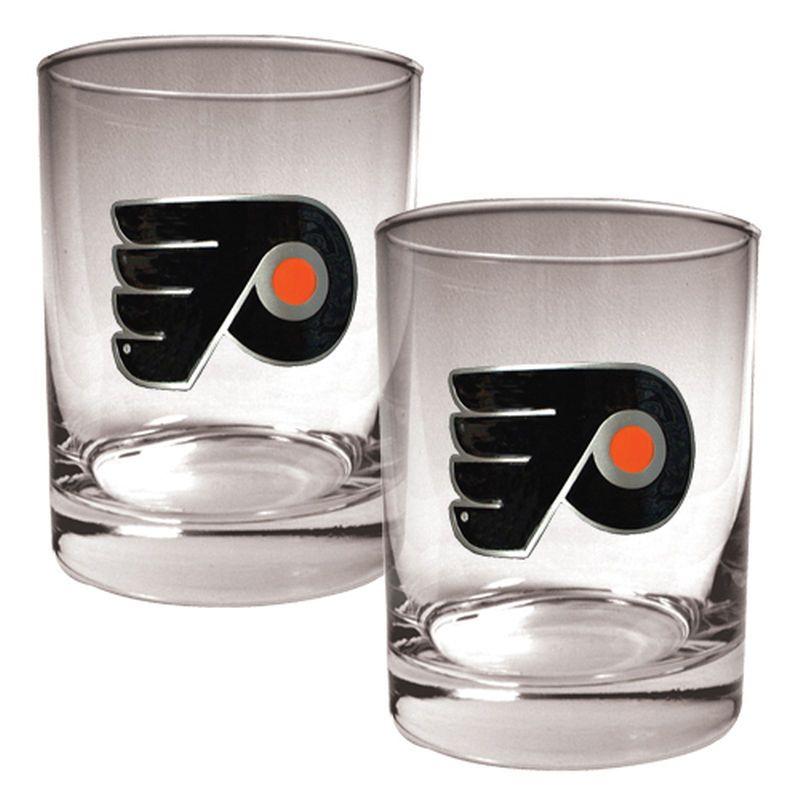 Philadelphia Flyers 14oz. Rocks Glass Set