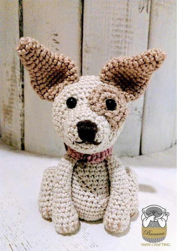 Hund-Chihuahua-Häkelanleitung. 11 cm hoch. | Amigurumi | Pinterest ...