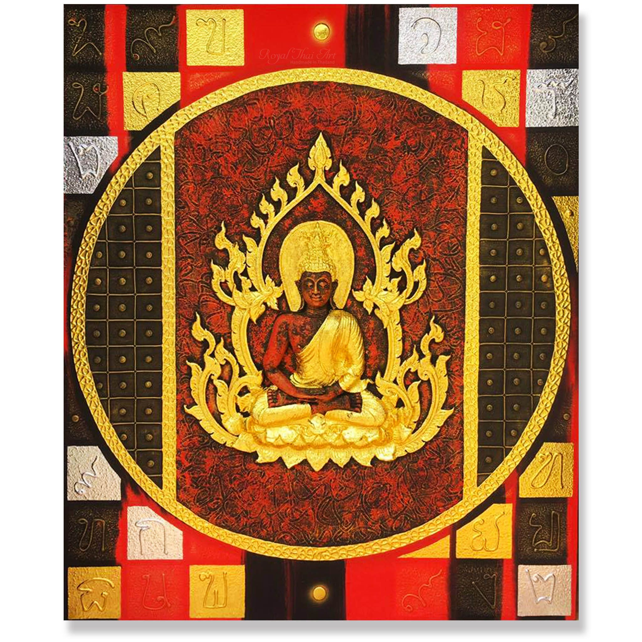 Ancient Thai Buddha Wall Art | Buddha Paintings | Pinterest | Buddha ...