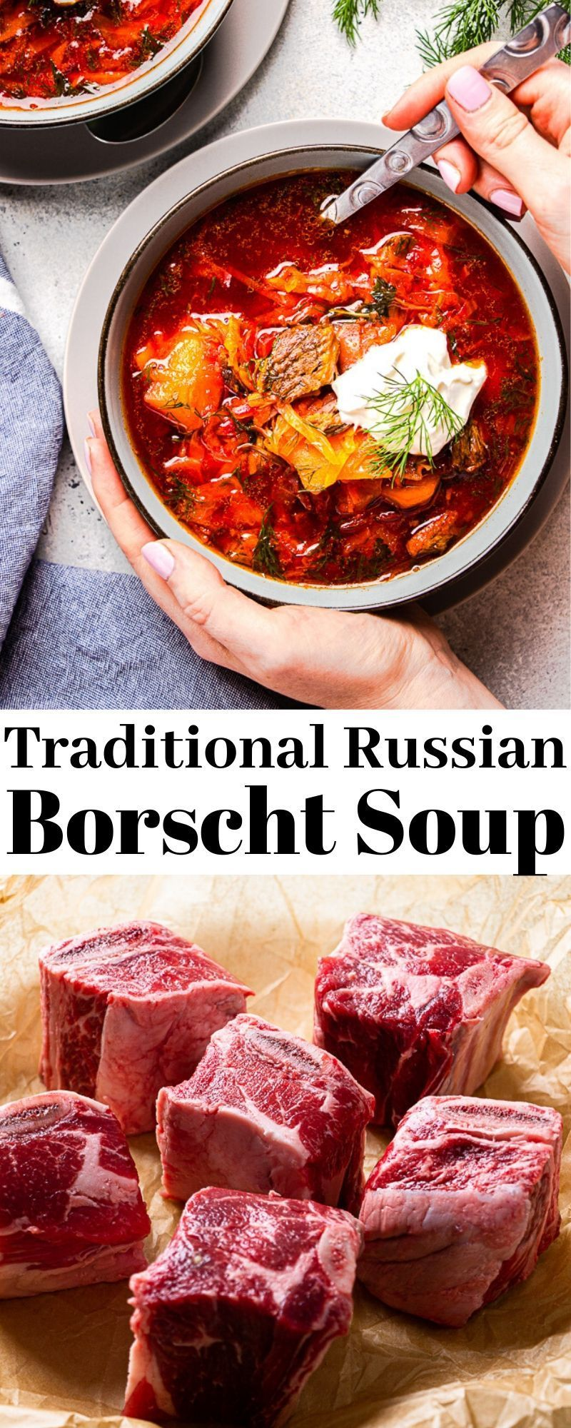 Borscht Soup With Beef Veronika S Kitchen Recipe Borscht Soup Traditional Borscht Recipe Borscht Recipe