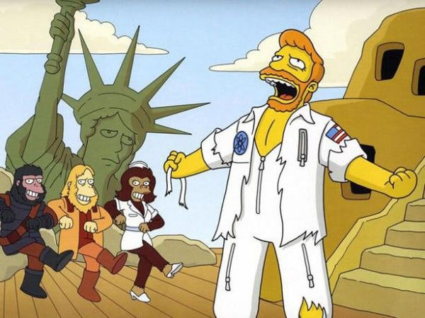 """Stop the Planet of the Apes, I Want to Get Off!"""" starting Troy McClure. The  Simpsons """"A Fish Called Selma"""" 