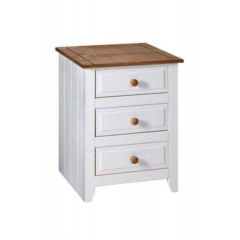 Capri 3 Drawer Bedside Cabinet Fimu, White Bedroom Furniture Uk Only