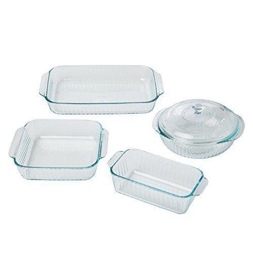 Glass Bakeware Set Pyrex Glass Baking Dish Casserole Dish Kitchen Equipment New…