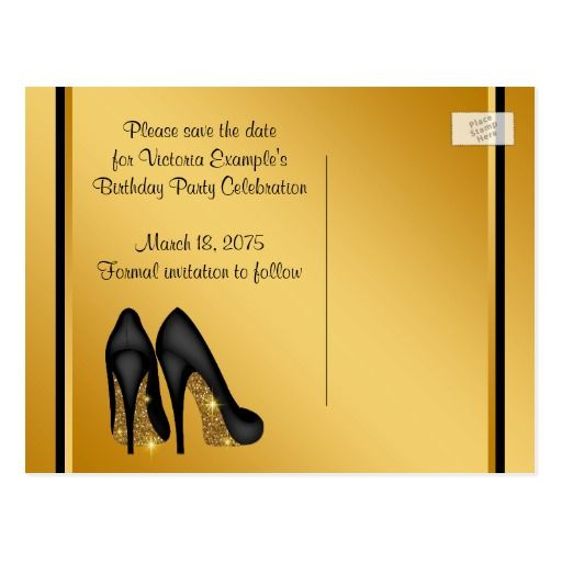Womans Birthday Party Save The Date Postcard Birthdays