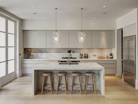 Keuken inspiratie hanglampen boven het kookeiland kitchen