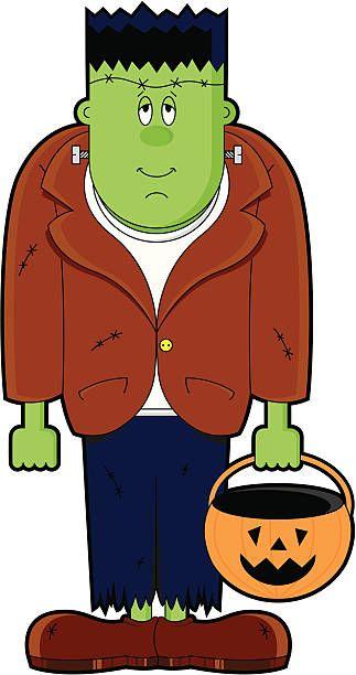 Cute Frankenstein Monster Character Icon Halloween Cartoons Halloween Clipart Halloween Photos