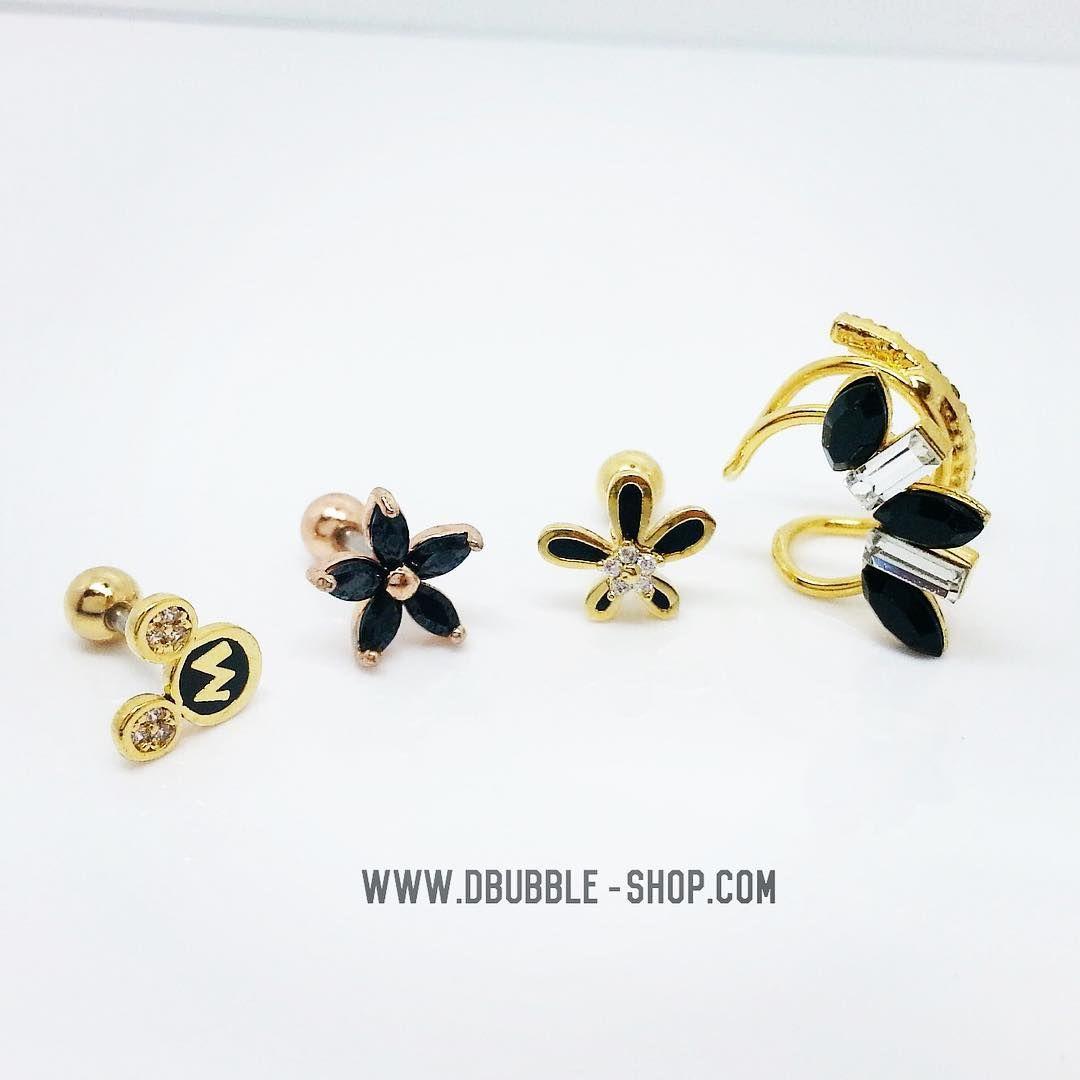M mickey Starfish flower Noir daisy Mohawk cuff #jewelrygram #jewelry #earcuff #cuff #piercings #piercing  www.dbubble-shop.com