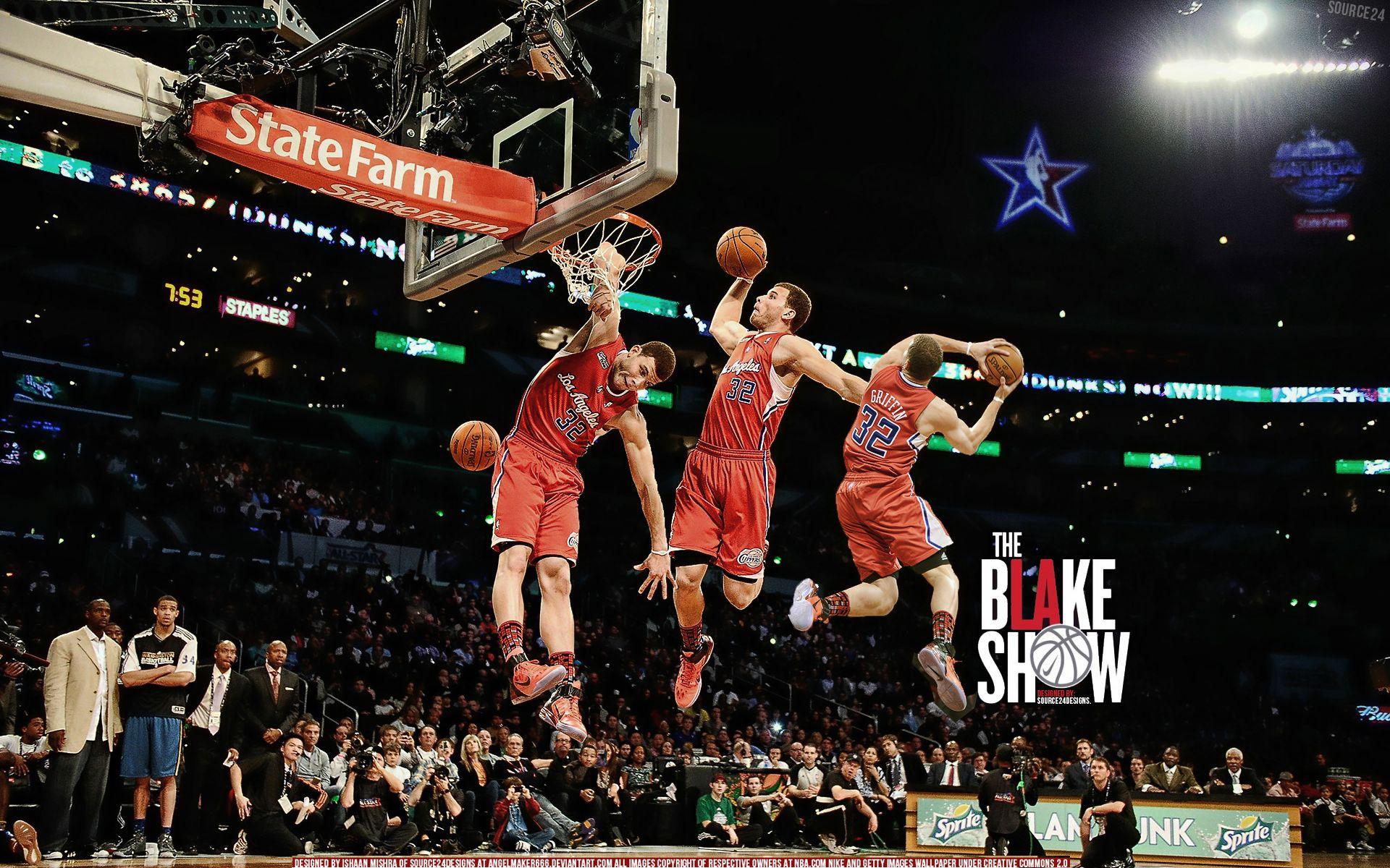 Blake Griffin Wallpaper By Angelmaker666 On Deviantart Blake Griffin Nba Pictures Nba Slam Dunk Contest