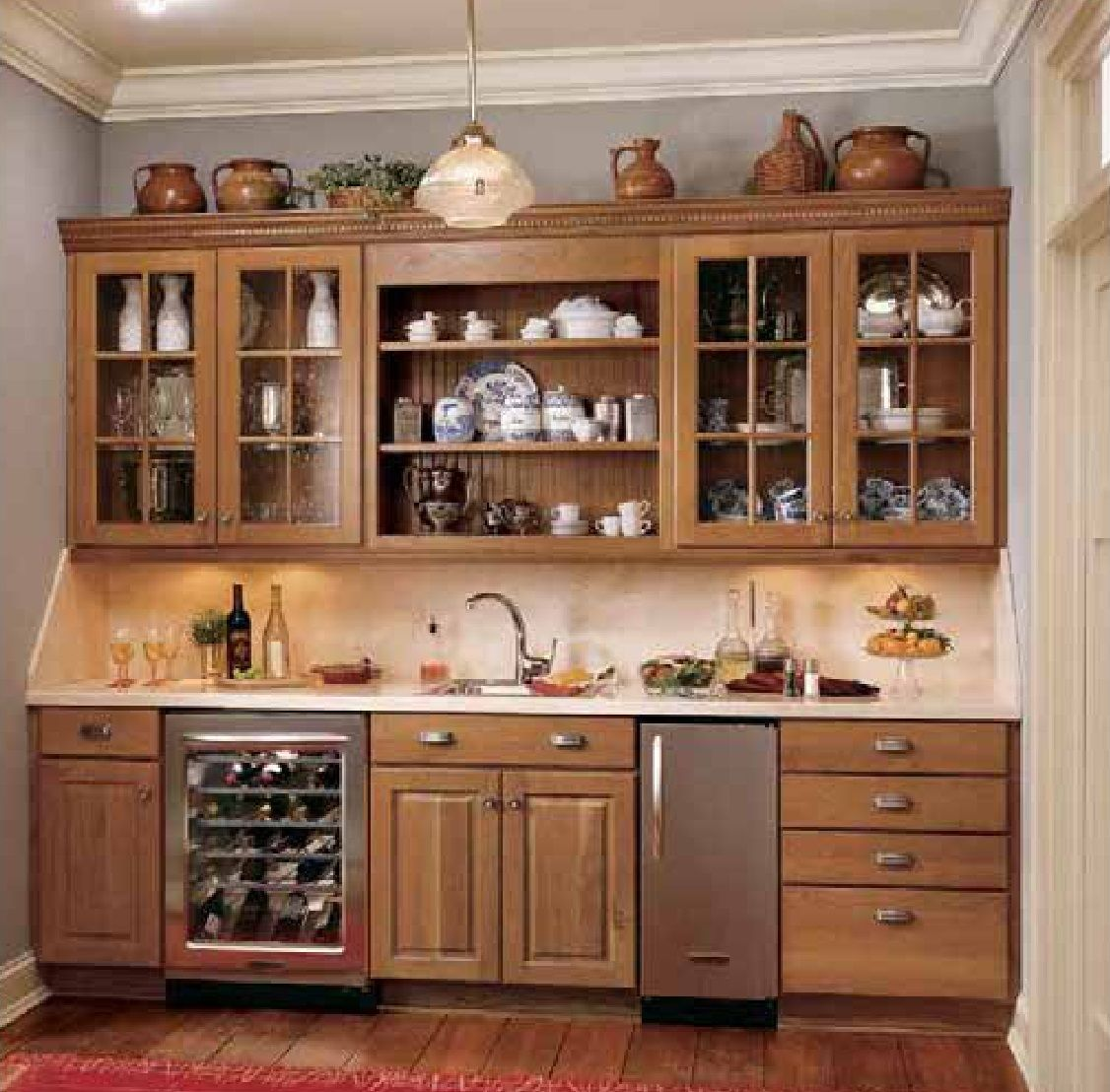 Duncan Cabinets From Norcraft Cabinetry Cherry Harvest Old Kitchen Cabinets Cheap Kitchen Cabinets Wood Kitchen Cabinets
