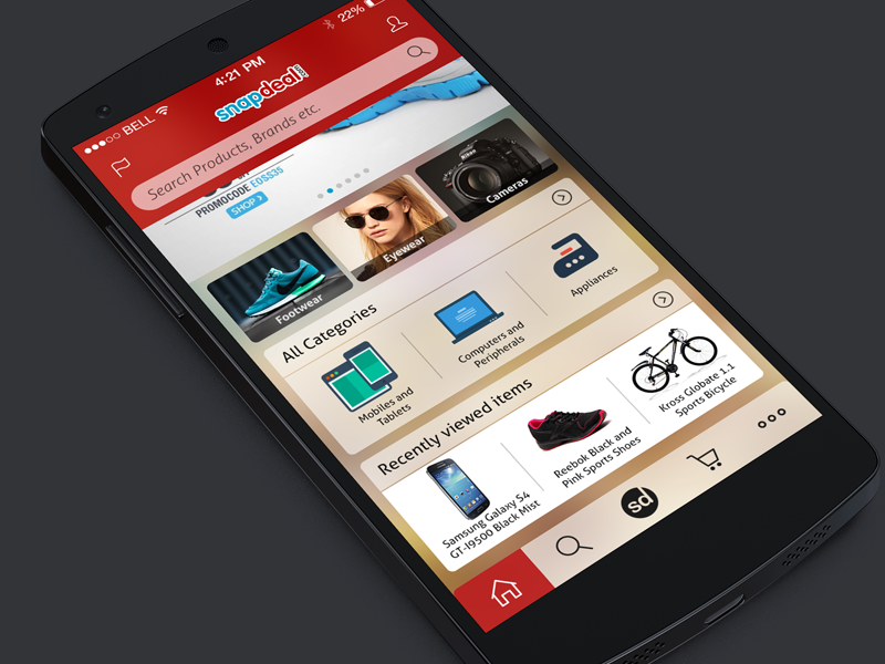 Snapdeal Mobile App   Home Screen