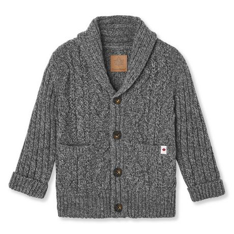Best Canadiana Toddler Boy Cable Cardigan Sweater Grey 5T 400 x 300