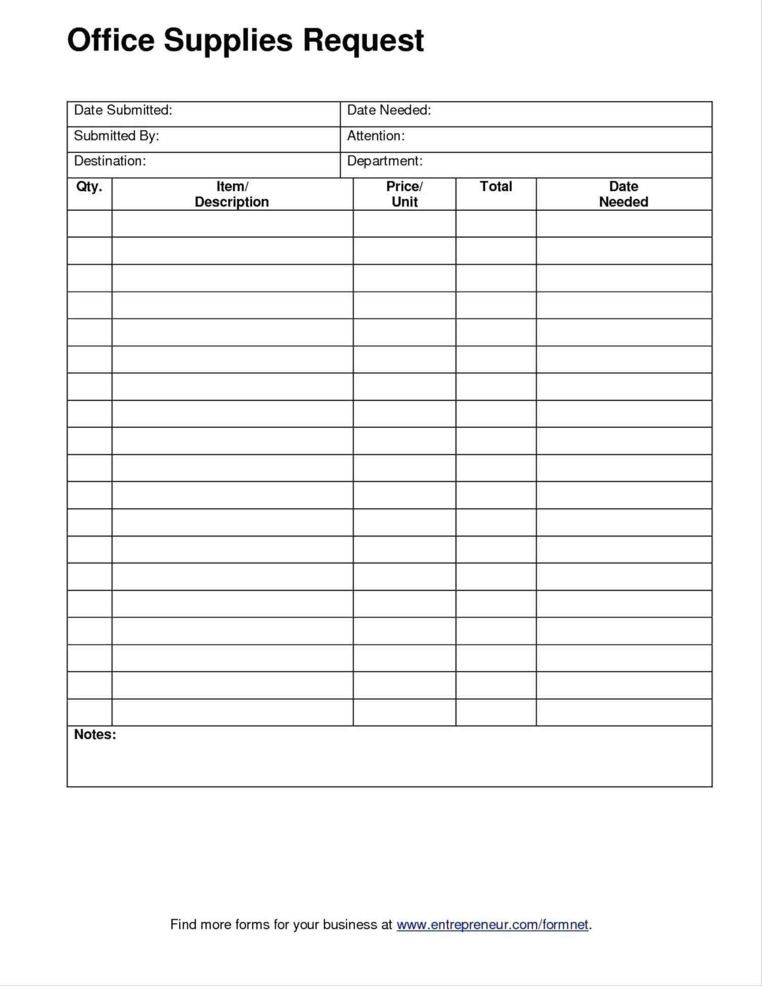 New Construction Work Order Form Exceltemplate Xls Xlstemplate