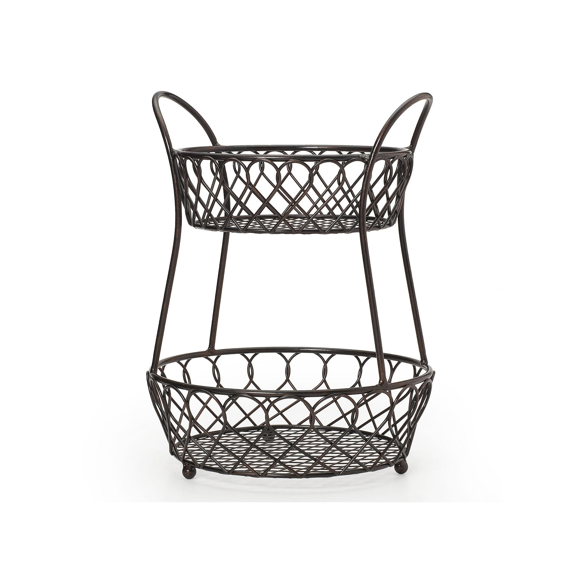 Mikasa Gourmet Basics Loop Lattice 2 Tier Basket