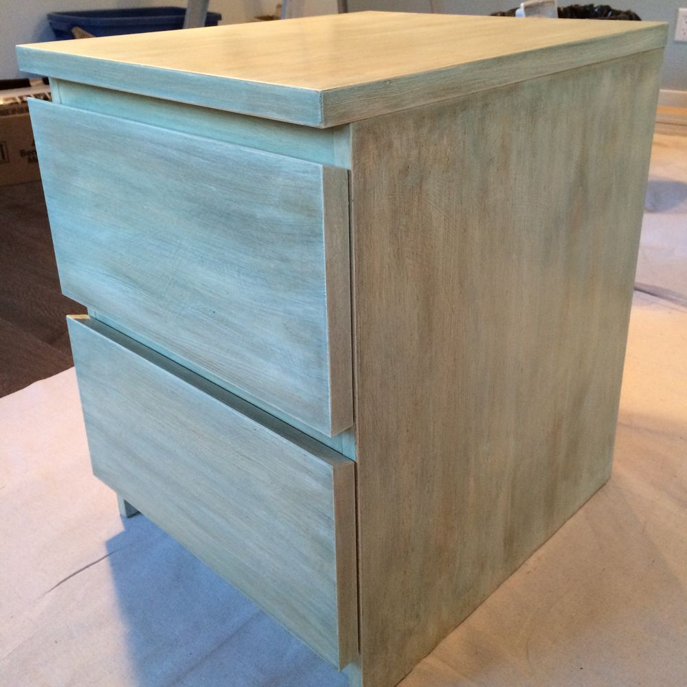 Ikea malm 2 drawer chest turned into something special for Chalk paint muebles ikea
