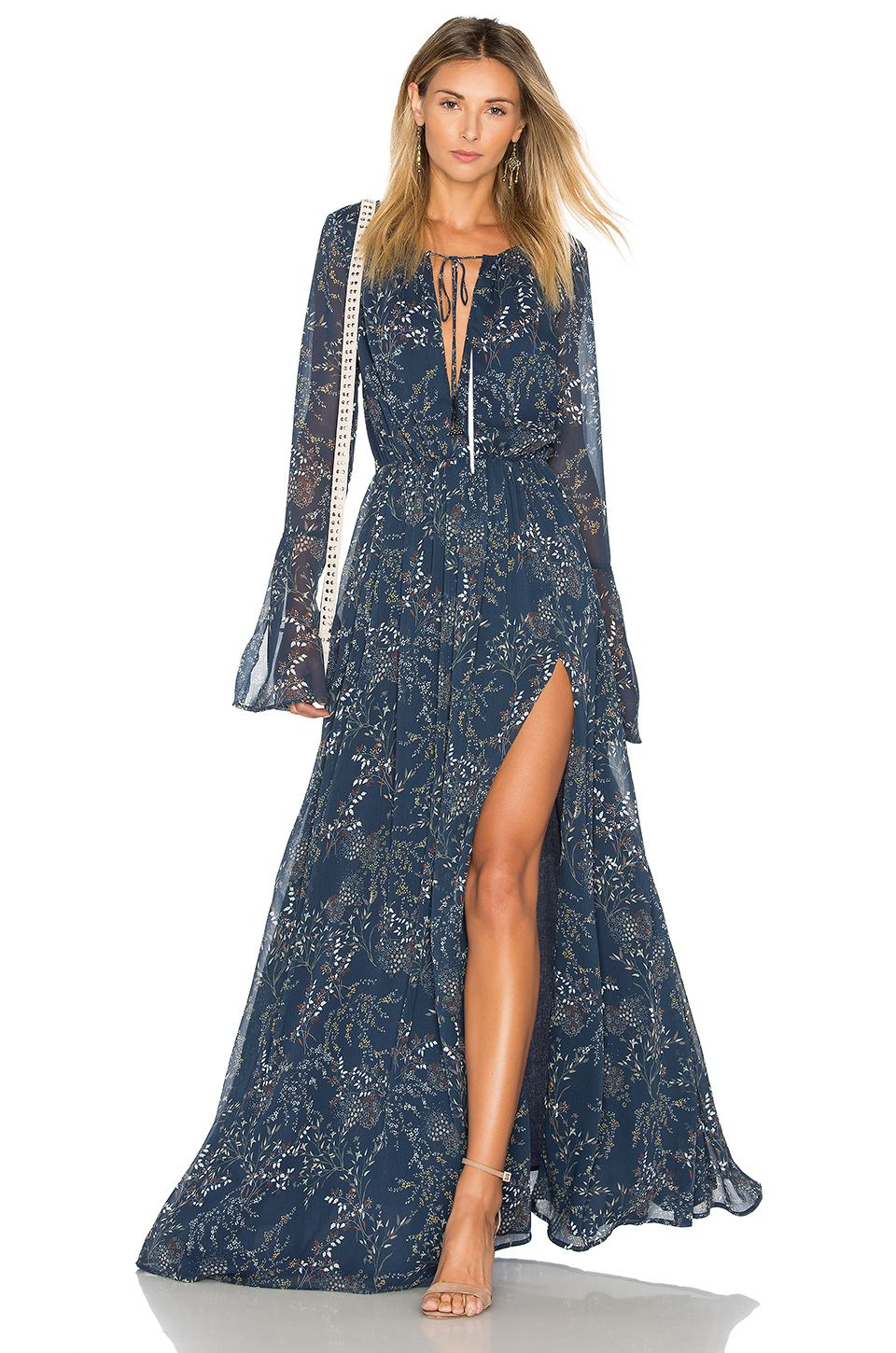 2f0cde795f5 THE JETSET DIARIES Mediterranean Maxi Dress in Mediterranean Floral ...
