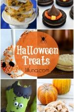 A roundup of festive and delicious Halloween treats on { lilluna.com }!!