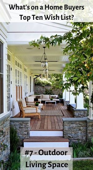 What do today   home buyers want most in  also top wish list real estate bloggers summer porch rh pinterest