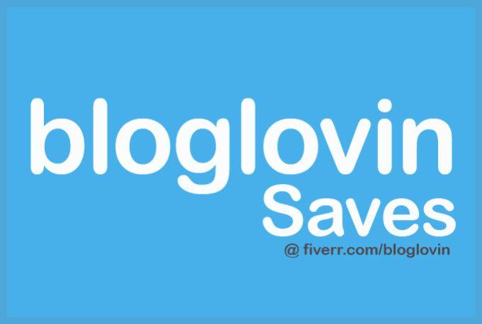 add 100 BLOGLOVIN saves by bloglovin