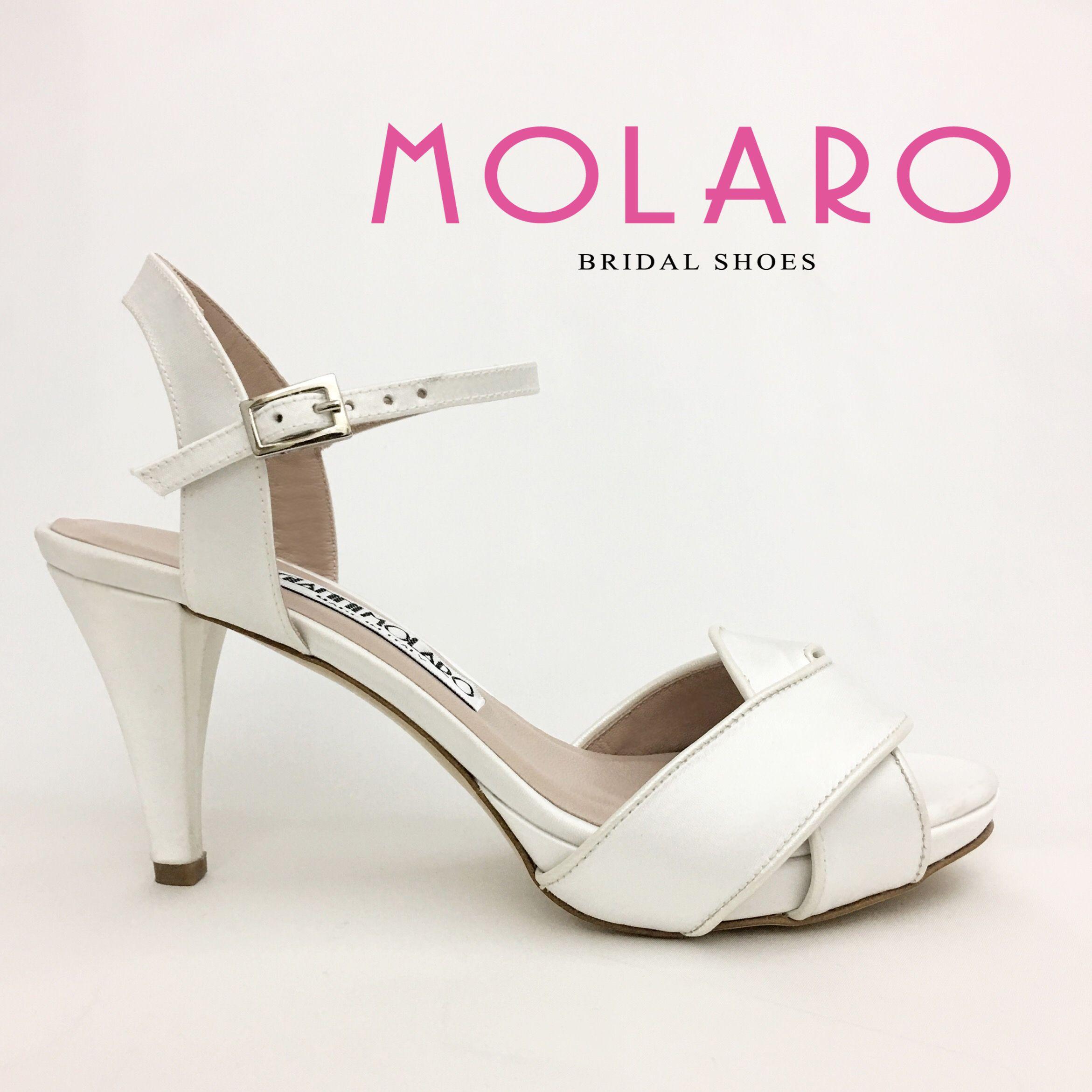 Scarpe Da Sposa Bianco Seta.Gianni Molaro Bridal Shoes Sandalo In Raso Bianco Seta Art