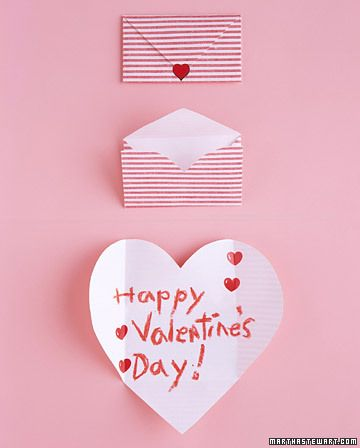 Folding Hearts Valentines - Super cute idea to do with the kids.