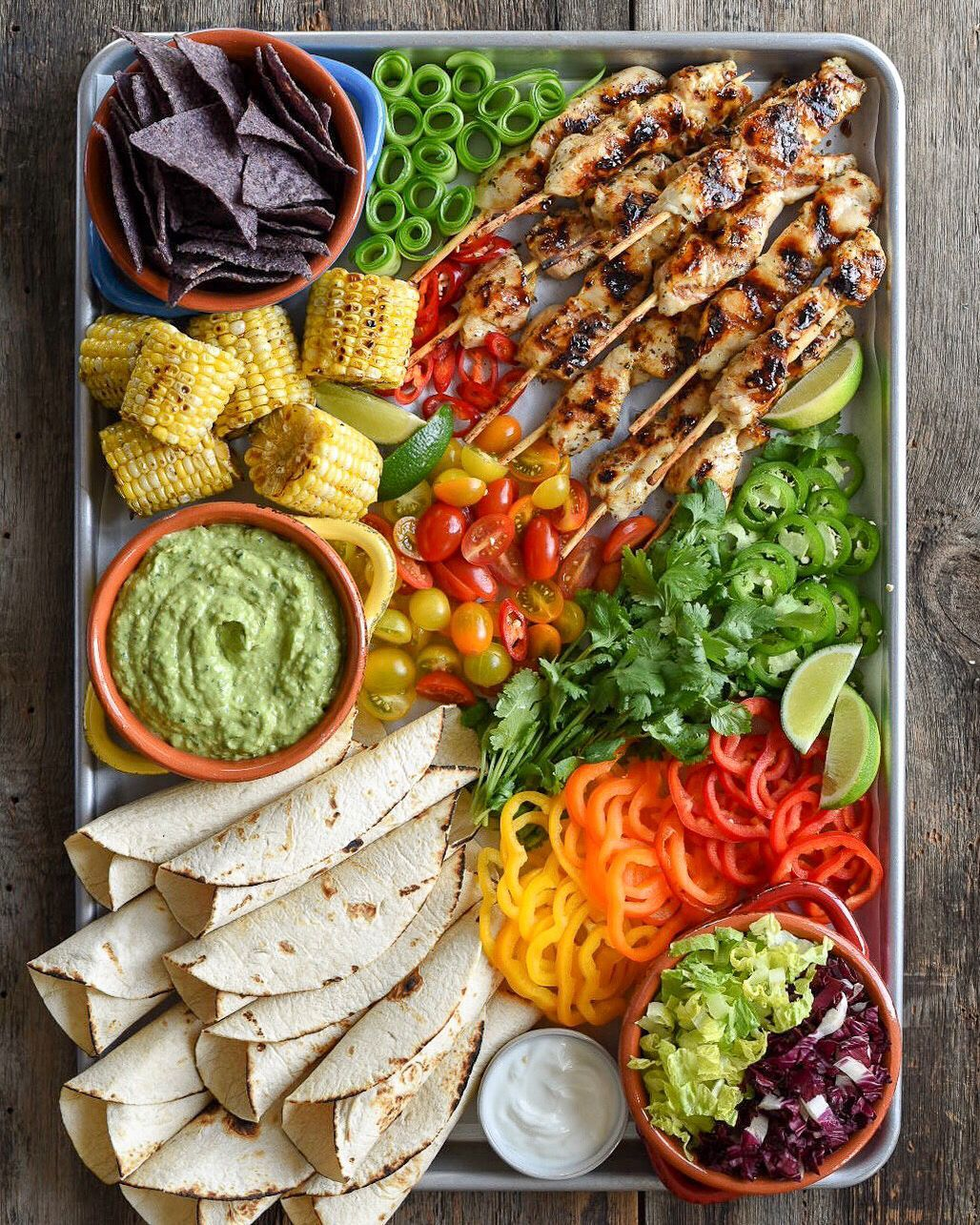 Grilled Chicken Tortillas with Spicy Guacamole by