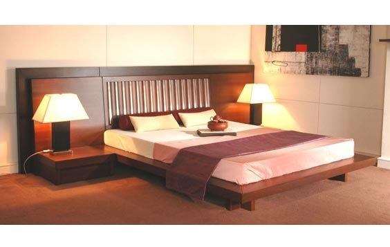 Buy Latest Platform Bed With Bedside And Headboards In Living Spaces.Visit  Our New Delhi