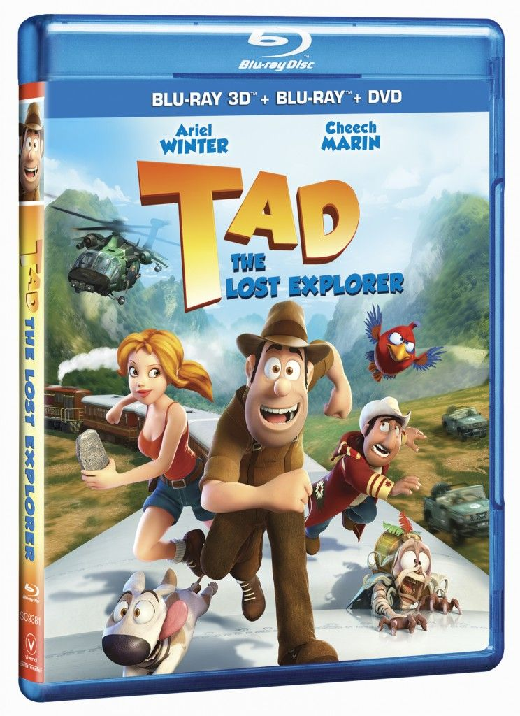 """giveaway for a DVD of """"Tad: The Lost Explorer"""" Review and Blu-Ray DVD Combo Pack Giveaway 