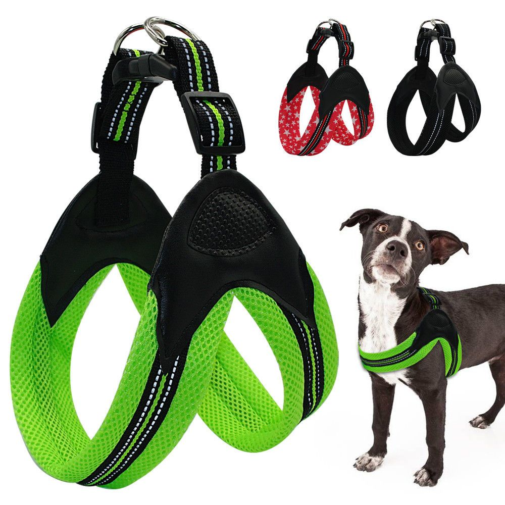 7 99 Soft Reflective Simple Mesh Dog Harness Comfortable Padded